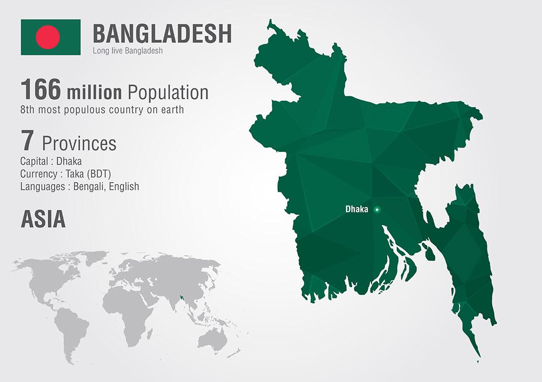 bangladesh world map